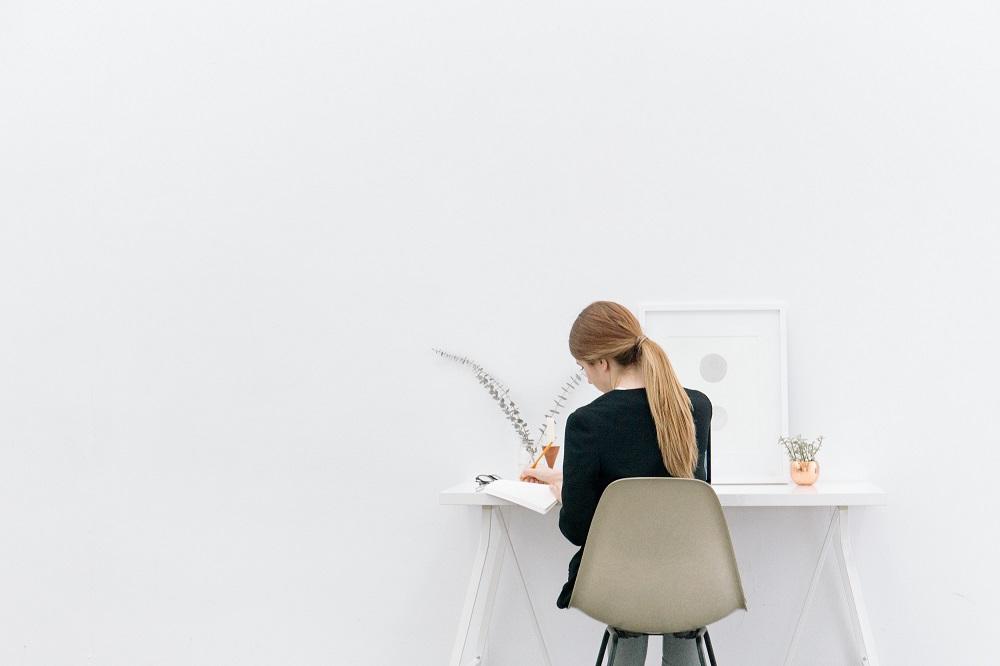 Bookkeeping at desk