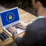 GDPR Complaint Symbol on Laptop