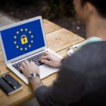 GDPR Complaint Symbol on Laptop