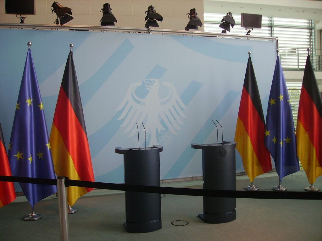 EU and German flags